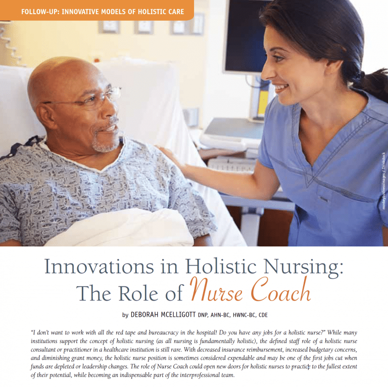 role of the nurse coach