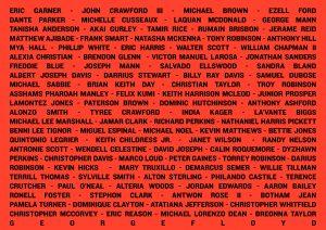 Black Lives Matter Say Their Names